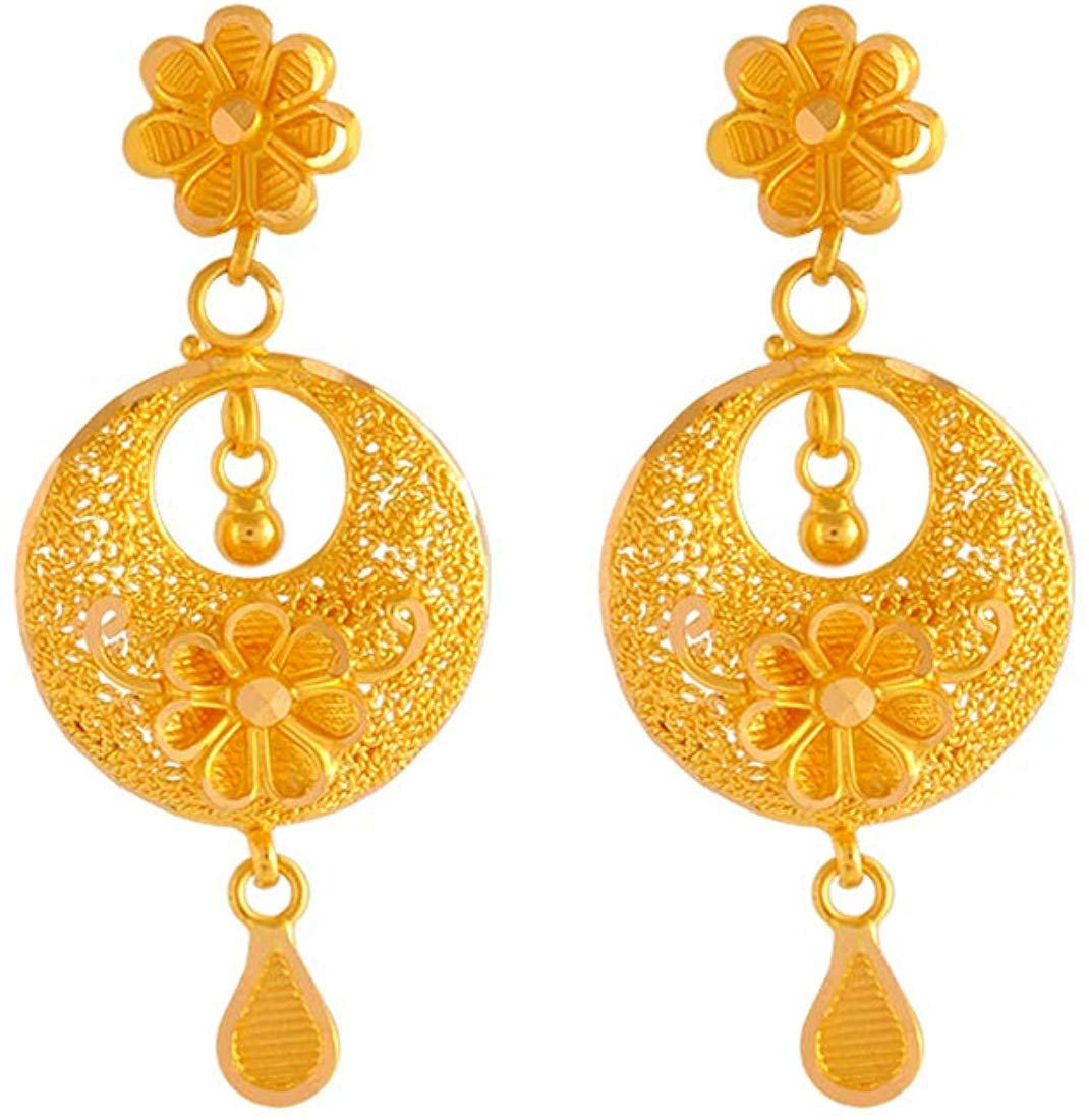 P C Chandra Jewellers 22k 916 Yellow Gold Jhumki Earrings For Women Fashion Marketplace India Fashion Re Seller Hub