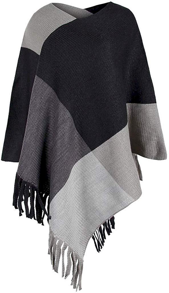 Rosatro Women Sweater for Winters Ladies V-Neck Irregular Patchwork Sweater  Cloak Loose Shawl Cardigan Shrugs - Fashion Marketplace India | Fashion  Re-seller Hub