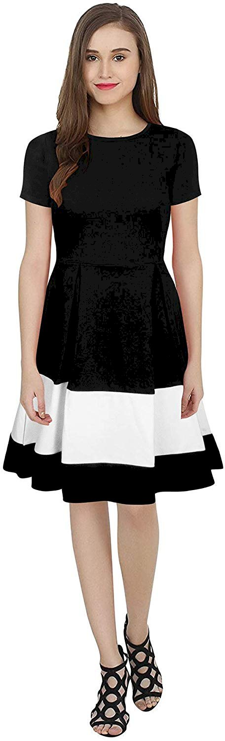 Feel Close Knee Length Short Sleeve Onepiece Designer Dress For Womens And Girls Fashion Marketplace India Fashion Re Seller Hub