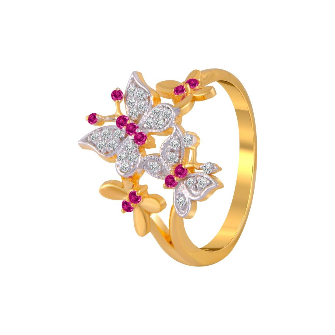 P C Chandra Jewellers 14k 585 Yellow Gold And American Diamond Ring For Women Fashion Marketplace India Fashion Re Seller Hub