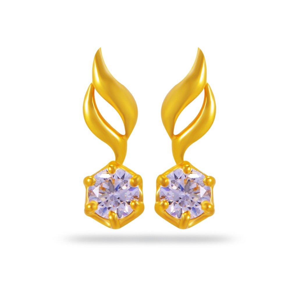 Joyalukkas Impress Collection 22k Yellow Gold Stud Earrings For